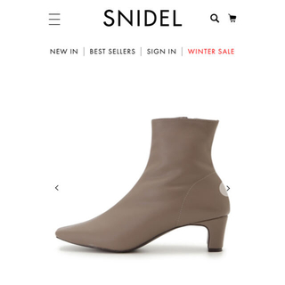 snidel - スナイデル 今季 フィットショートブーツ ブーツ