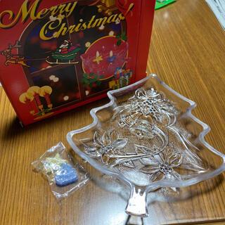ヤマザキセイパン(山崎製パン)のクリスマス皿&アロマキャンドルセット①(食器)