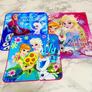 ディズニー(Disney)の即購入OK!新品★ディズニー アナ雪 タオルハンカチ 2枚&ハンカチ1枚 計3枚(キャラクターグッズ)