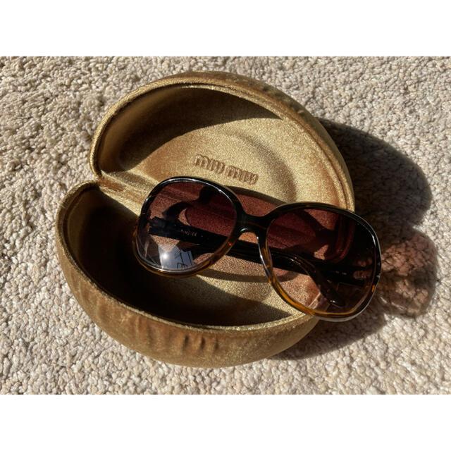 miumiu(ミュウミュウ)のmiumiu サングラス ブラウン レディースのファッション小物(サングラス/メガネ)の商品写真