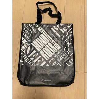 ルルレモン(lululemon)の未使用 ルルレモン  ショッパー エコバッグ 黒と白 ナイロン ジム 買い物(ショップ袋)