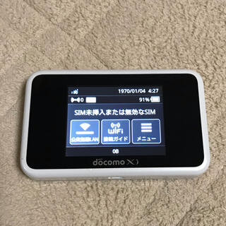 エヌティティドコモ(NTTdocomo)のHUAWEI Wi-Fi STATION HW-02G ホワイト docomo(その他)