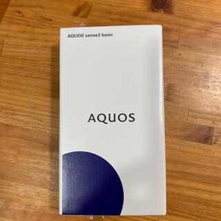 アクオス(AQUOS)のhi様専用 AQUOS sense3 basic SHV48 Black au(スマートフォン本体)