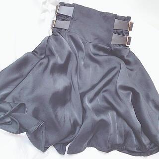 syrup. - 匿名配送 ♡ ローズマリーソワール サス付きスカート ブラック
