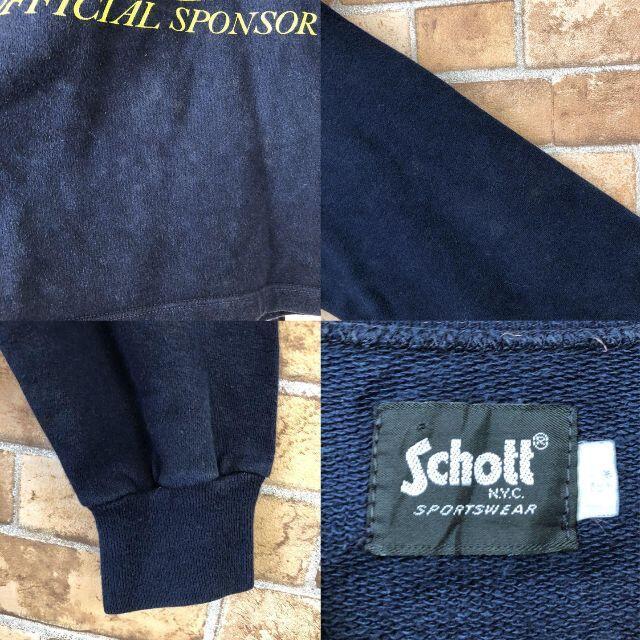 schott(ショット)の☆ショット☆Schott カレッジスウェット トレーナー インディアナ 紺 メンズのトップス(スウェット)の商品写真