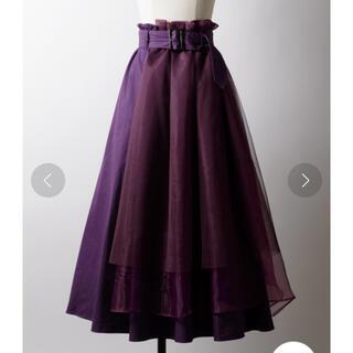 ラベルエチュード(la belle Etude)のla belle Etude チュールドッキングトレンチスカート(ロングスカート)