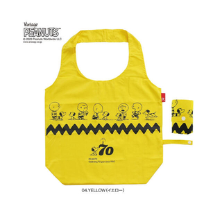 ルートート(ROOTOTE)の☆新品未使用☆ ROOTOTE スヌーピー 70周年エコバッグ  イエロー(エコバッグ)