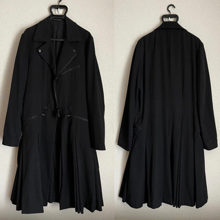 Yohji Yamamoto - 【美品】ヨウジオム Gothic プリーツロングジャケット yohji Y-3