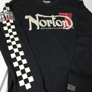 ノートン(Norton)のNorton  長袖Tシャツ ワッペン 刺繍(Tシャツ/カットソー(七分/長袖))