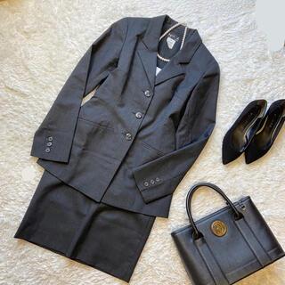 agnes b. - アニエスベー   セットアップ グレー ウール スカートスーツ