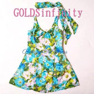 ゴールズインフィニティ(GOLDS infinity)のゴールズインフィニティ ストール付ワンピ ブルー(ミニワンピース)