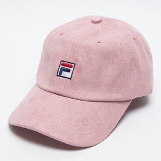 ウィゴー(WEGO)のWEGO FILA 別注フェイクスウェードキャップ 帽子(キャップ)