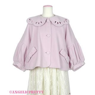 アンジェリックプリティー(Angelic Pretty)のAngelic Pretty スカラップカラーショートコート ライトピンク(ピーコート)