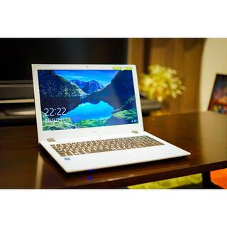 エイサー(Acer)のacer E5-573-A34D/W 初めてのパソコンに♪お洒落で可愛いデザイン(ノートPC)