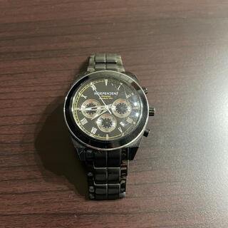 インディペンデント(INDEPENDENT)のインディペンデント クロノグラフ腕時計 ブラック(腕時計(アナログ))