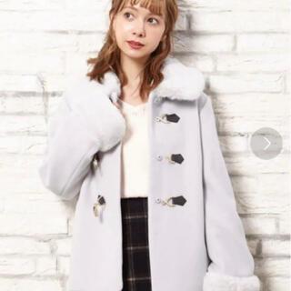 イング(INGNI)のINGNI ビット付ファー襟ショートコート(毛皮/ファーコート)