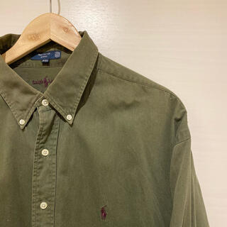 ポロラルフローレン(POLO RALPH LAUREN)の珍色 90s 古着 シャツ ポロ ラルフローレン ボタンダウンシャツ(ポロシャツ)