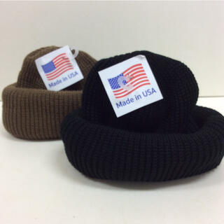 ロスコ(ROTHCO)のロスコ ニット帽 ブラック&コヨーテ  2個SET(ニット帽/ビーニー)