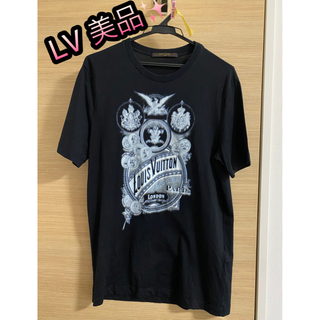 ルイヴィトン(LOUIS VUITTON)のクリーニング済み✨【美品】ルイヴィトン カットソー Tシャツ 黒 M(Tシャツ/カットソー(半袖/袖なし))