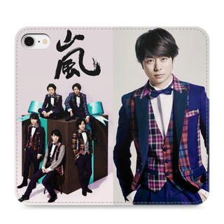 アラシ(嵐)の櫻井翔 iPhoneSE 手帳型ケース(iPhoneケース)