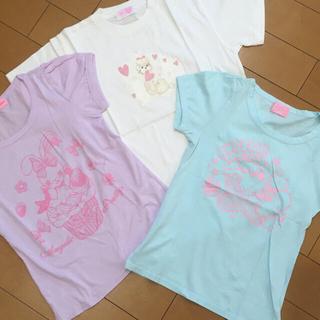 アンジェリックプリティー(Angelic Pretty)のTシャツ3点、カーデ1点セット(Tシャツ/カットソー(半袖/袖なし))