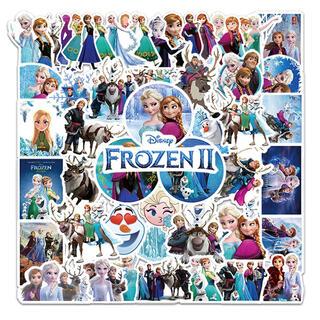 新品 ディズニー アナと雪の女王 エルサ オラフステッカー 防水シール 50枚(キャラクターグッズ)