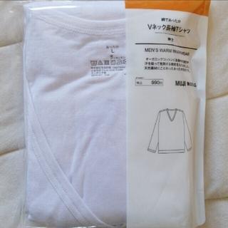ムジルシリョウヒン(MUJI (無印良品))の綿であったか メンズ 長袖 Vネック Lサイズ(その他)