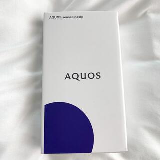 アクオス(AQUOS)の【新品】AQUOS sense3 basic ブラック SIMフリー(スマートフォン本体)