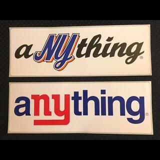 エニシング(aNYthing)のaNYthing ステッカー2枚セット(その他)