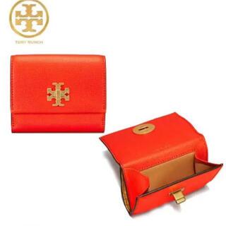 トリーバーチ(Tory Burch)の【決算大セール】トリーバーチ ポピーレッドの折財布☆新品 高級素材❣️(財布)