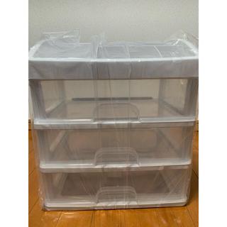 化粧品ケース 化粧品収納 大容量 片付け 3段引出 メイクボックス 透明 新品(メイクボックス)