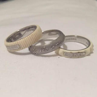 ディーゼル(DIESEL)のDIESEL リング3pcセット(リング(指輪))