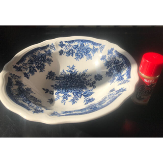 BLUE CARNATION 深皿 サラダボウルプレート IRONSTONE
