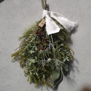 春の香り〜ミモザのスワッグ(ドライフラワー)