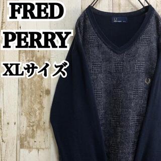 フレッドペリー(FRED PERRY)の【フレッドペリー】【XL】【ワンポイント】【ロゴ刺繍】【モヘアニット/セーター】(ニット/セーター)