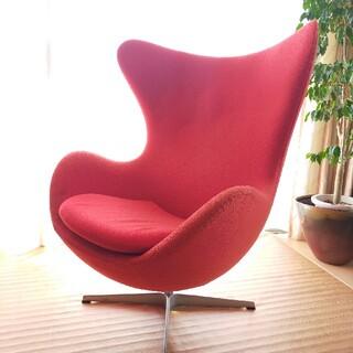 アルネヤコブセン(Arne Jacobsen)のエッグチェア フリッツハンセン アルネヤコブセン ミッドセンチュリー イームズ(ダイニングチェア)