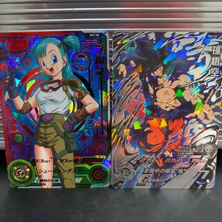 ドラゴンボール(ドラゴンボール)のドラゴンボールヒーローズ  ブルマ&孫悟空(シングルカード)