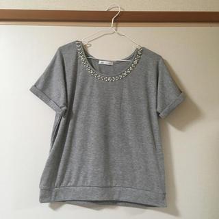 シマムラ(しまむら)のビジュー♡トップス新品(カットソー(半袖/袖なし))