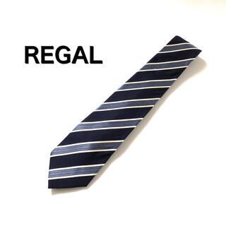 リーガル(REGAL)のREGAL リーガル ネクタイ 綿 ストライプ ボーダー 総柄 スーツ(ネクタイ)