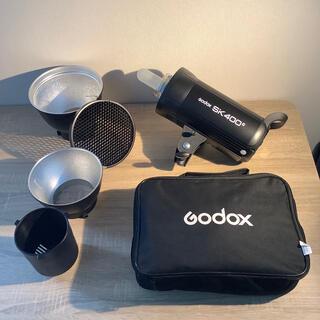 【美品】Godox SK400II+グリッドソフトボックス+ハニカムグリッド