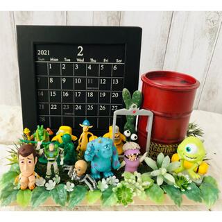 トイストーリー(トイ・ストーリー)のトイストーリー モンスターズインク カレンダー ペン立て フェイクグリーン(その他)