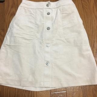 アルシーヴ(archives)のARCHIVES 白 コーデュロイ素材スカート(ミニスカート)