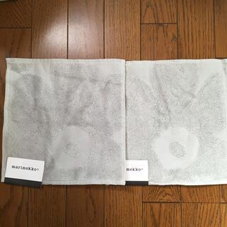 marimekko - マリメッコ ハンドタオル ウニッコ グレー 2枚