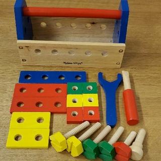 メリッサ(melissa)のメリッサ & ダグ MELISSA & DOUG 木製取るに沿ってツール キット(知育玩具)