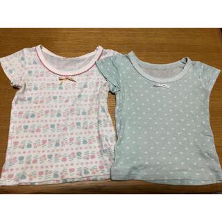 ニシマツヤ(西松屋)の肌着 半袖(女の子/80)(肌着/下着)