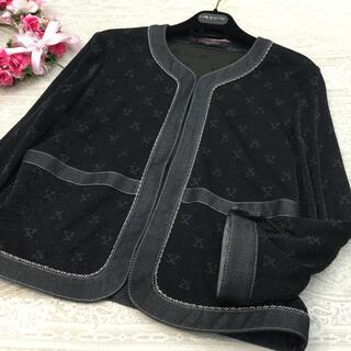 レオナール(LEONARD)のレオナール  ♡ ラメ入り ジャケット ♡ ブラック ♡ L(ノーカラージャケット)