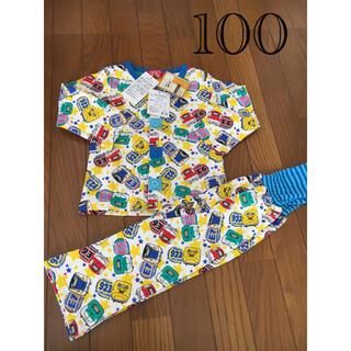 新幹線 長袖 男の子 パジャマ 100 タグ付き 新品(パジャマ)