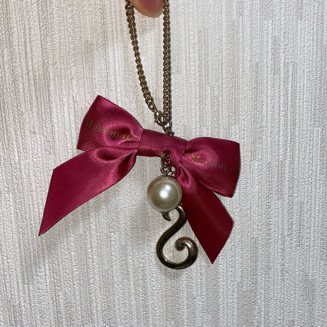 Maison de FLEUR(メゾンドフルール)のMaison de FLEUR チャーム ピンク S ハンドメイドのファッション小物(バッグチャーム)の商品写真