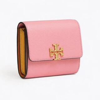 トリーバーチ(Tory Burch)の【決算大セール】トリーバーチの折財布☆ピンク×イエロー 新品 SALE中❣️(財布)