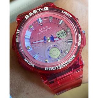 ベビージー(Baby-G)のbaby-G/アクアプラネット/BGA-250/クリアレッド/限定/コラボ/美品(腕時計)
